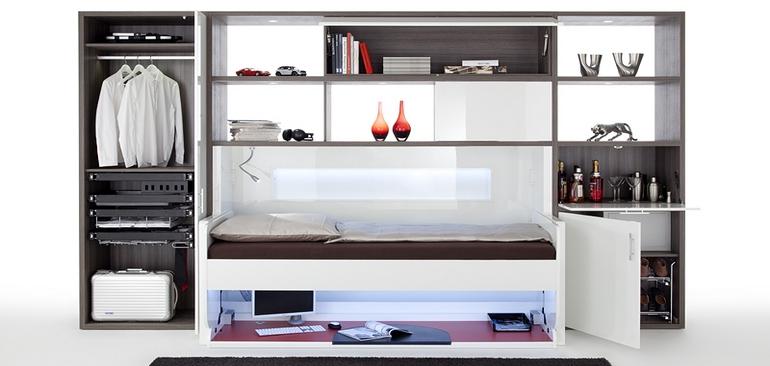 das bett wird zum tisch h fele. Black Bedroom Furniture Sets. Home Design Ideas