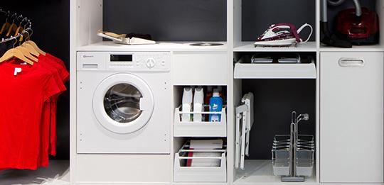 der hauswirtschaftsraum in bester ordnung h fele. Black Bedroom Furniture Sets. Home Design Ideas