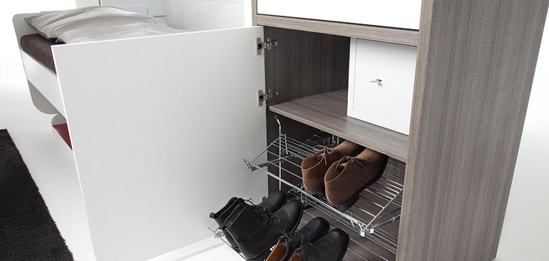 The solution also provides lots of room for storage space.