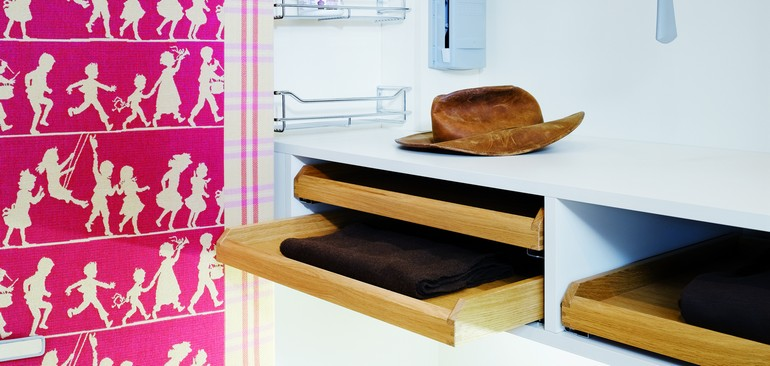 All drawers, pigeon-holes and compartments are adapted to the family.