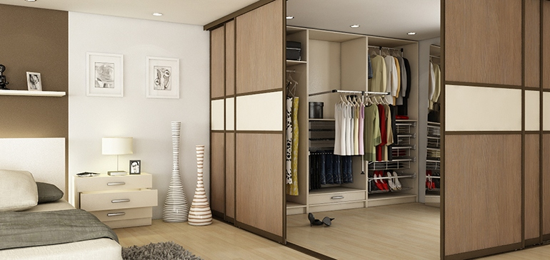 Rooms can be divided into different usage areas with little effort.
