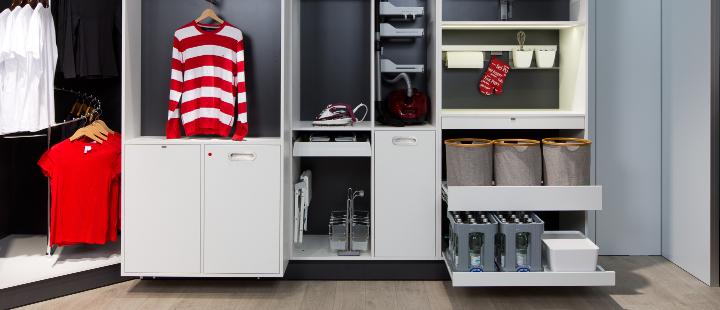 schranke fur hauswirtschaftsraum. Black Bedroom Furniture Sets. Home Design Ideas