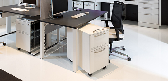 Pedestals hold all of your personal work documents.