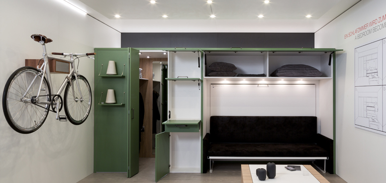 A multifunctional all-rounder which even provides space in the smallest of rooms.