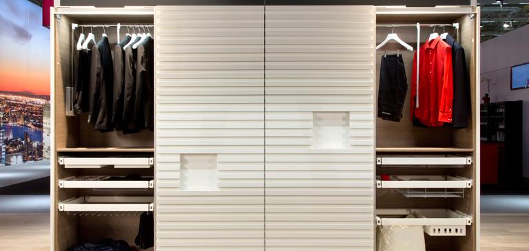 buy online 73f9b 915d4 Wardrobe: elegant down to the finest detail - Häfele