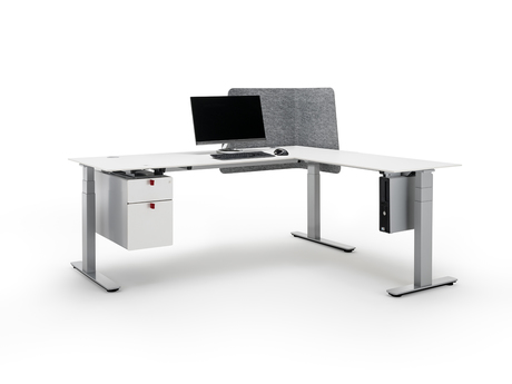 The new Officys table bases from Häfele are extremely convenient because of their low-noise drive, and thanks to their modular construction they can be individually configured and installed in a flash.