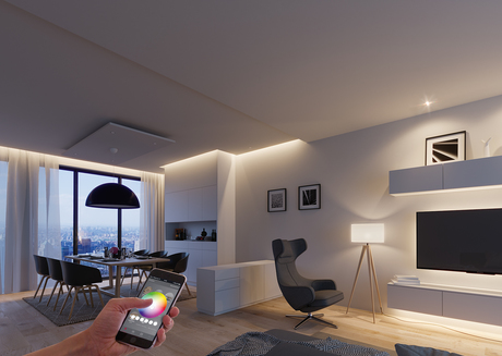 Häfele Connect, a self-developed app for smartphones and tablets, networks and controls light and sound as well as electrical drives in furniture. Häfele is also a pioneer in the Smart Home area.