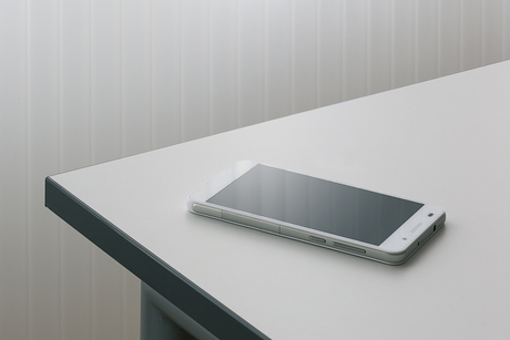 The heart of a wireless charging station is concealed beneath this table top. If your smartphone runs out of power, simply put it on top and the battery is charged.