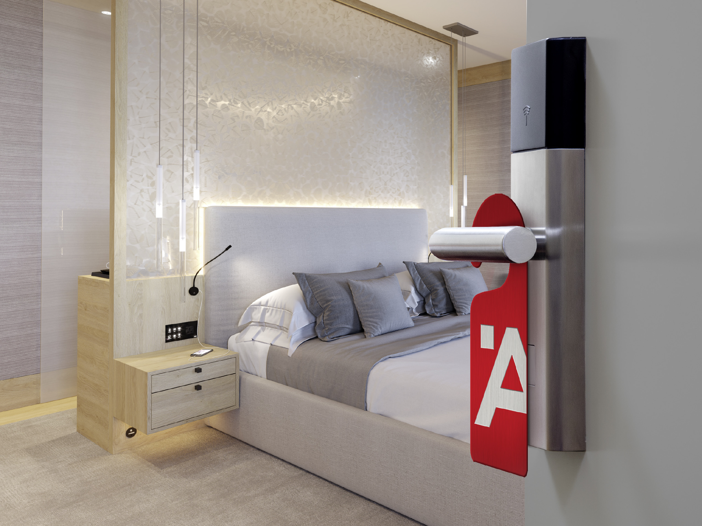 One Room, one Face – one Style. Häfele creates the optimum prerequisites for target group-oriented equipping of hotel rooms with its internationally available hotel assortment consisting of more than 200 products.