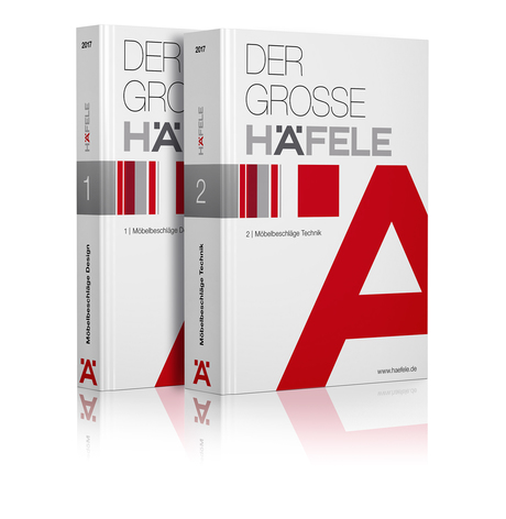 The Complete Häfele Furniture Fittings is now available as a new edition in two volumes and with thousands of new products and a modern appearance.