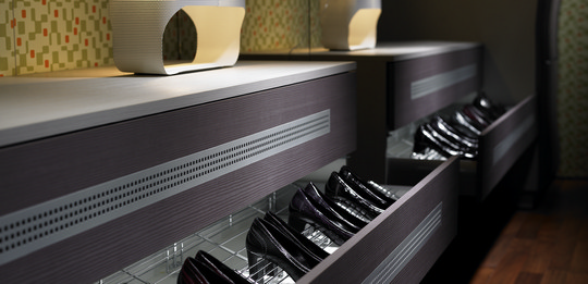 Perfect storage for shoes.