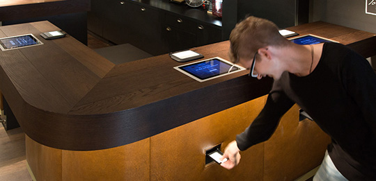 Reliable self check-in in the hotel Ruby