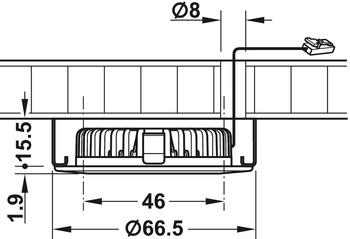 Ein-/Unterbauleuchte, rund, Häfele Loox LED 2020, Zinkdruckguss, 12 V