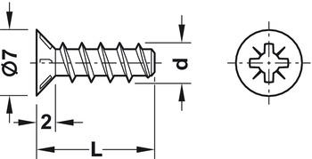 Häfele Varianta Schrauben für Rollschubführungen Senkkopf