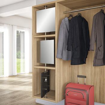 garderobe aus edelstahl montage zwischen ober und unterboden online bei h fele. Black Bedroom Furniture Sets. Home Design Ideas