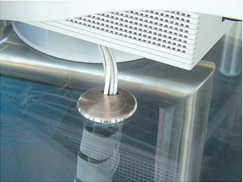kabeldurchlass edelstahl zum kleben 2 teilig rund. Black Bedroom Furniture Sets. Home Design Ideas