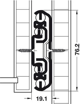 Kugelführung, Vollauszug, Tragkraft bis 310 kg, Stahl, seitliche oder aufliegende Montage