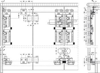 Schiebetürbeschlag, Slido Fold 70 MF/VF, Garnitur