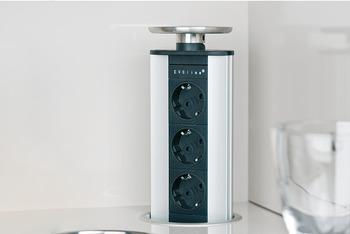 Steckdosen-Element, versenkbar, 230 V | online bei HÄFELE