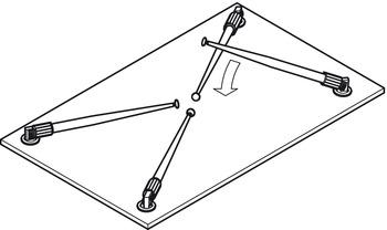 Tischfuß Klappbar.Tischbein Rondella Zylindrisch Klappbar Online Bei Häfele