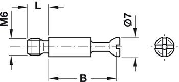 verzinkt Häfele Minifix Verbindungsbolzen  S100