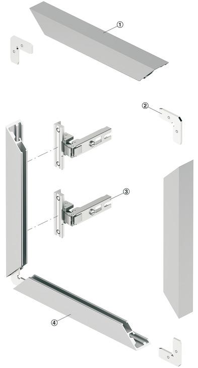 aluminium glasrahmenprofil 26 x 14 mm mit reduziertem. Black Bedroom Furniture Sets. Home Design Ideas