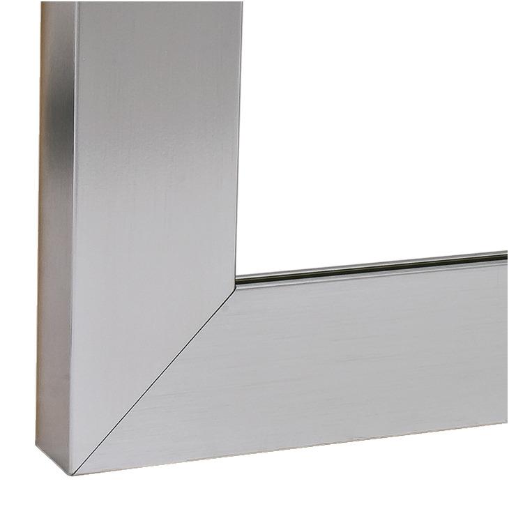 aluminium glasrahmenprofil 38 x 14 mm gerade f r. Black Bedroom Furniture Sets. Home Design Ideas