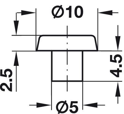 anschlagpuffer zum einbohren f r bohrungen 5 mm im h fele deutschland shop. Black Bedroom Furniture Sets. Home Design Ideas