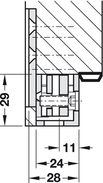 aufnahmeelement simonswerk vx 2505 3d f r ungef lzte und. Black Bedroom Furniture Sets. Home Design Ideas