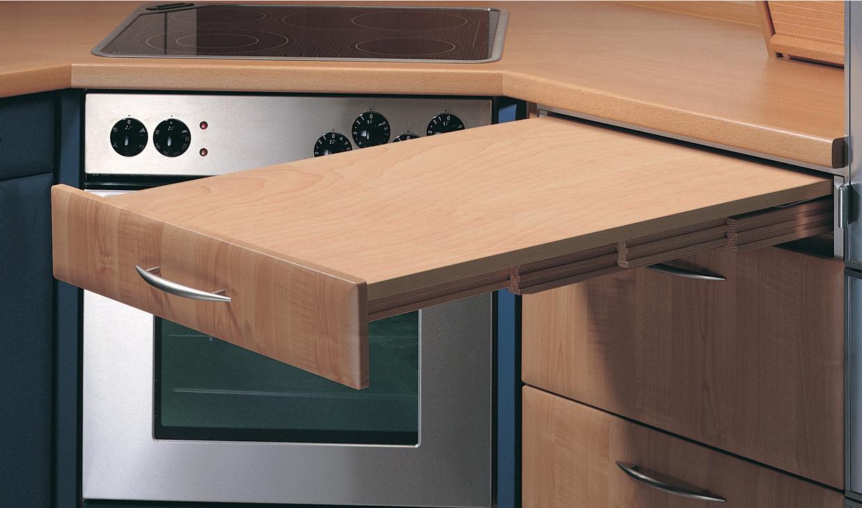 Einbau ausziehtisch küche  Ausziehtisch, Tragkraft 100 kg, Hailo Rapid 3845 - im Häfele ...