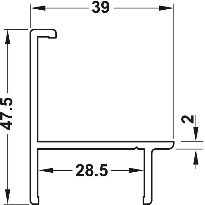Eckanschlussprofil, Aluminium, Sanitär-Trennwandsystem | online bei ...