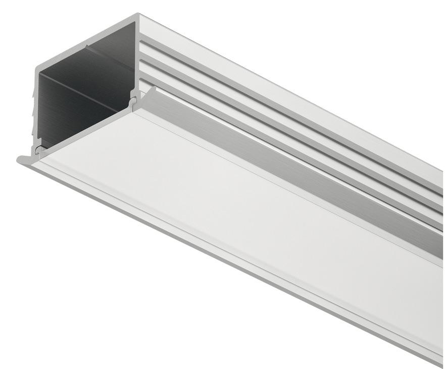 einbauprofil h fele loox 11 mm tiefe aluminium online. Black Bedroom Furniture Sets. Home Design Ideas