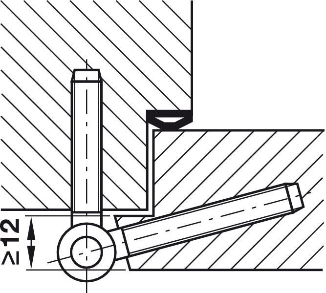 einbohrband anuba herkula 315 gl ra herkula 315 gl fr f r gef lzte innent ren bis 55 kg. Black Bedroom Furniture Sets. Home Design Ideas