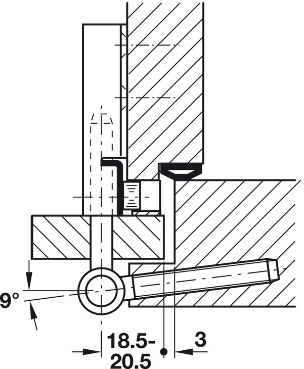 Simonswerk V3420 WF Cross rechts matt verchromt