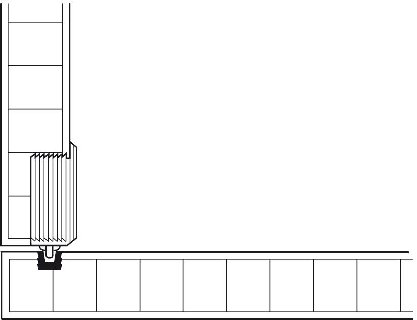 einfach laufschiene unten zum einpressen und einleimen in eine nut im h fele deutschland shop. Black Bedroom Furniture Sets. Home Design Ideas