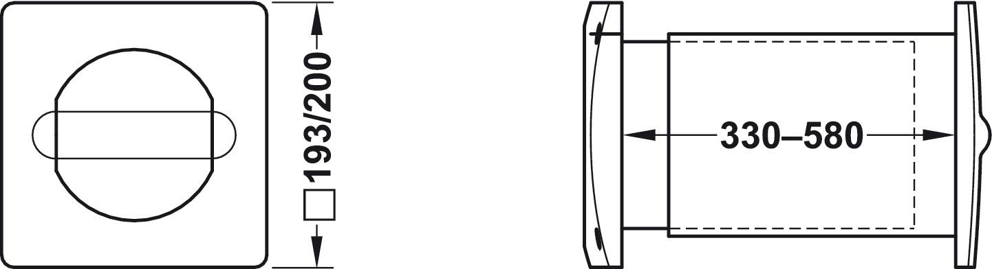 energiespar mauerkasten flachkanal und rundrohr system 150 f r ab oder zuluft online bei. Black Bedroom Furniture Sets. Home Design Ideas