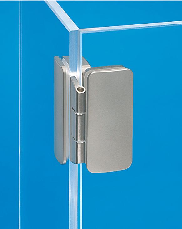 ganzglas vitrinenscharnier aufliegend auflage 3 oder 6 mm online bei h fele. Black Bedroom Furniture Sets. Home Design Ideas