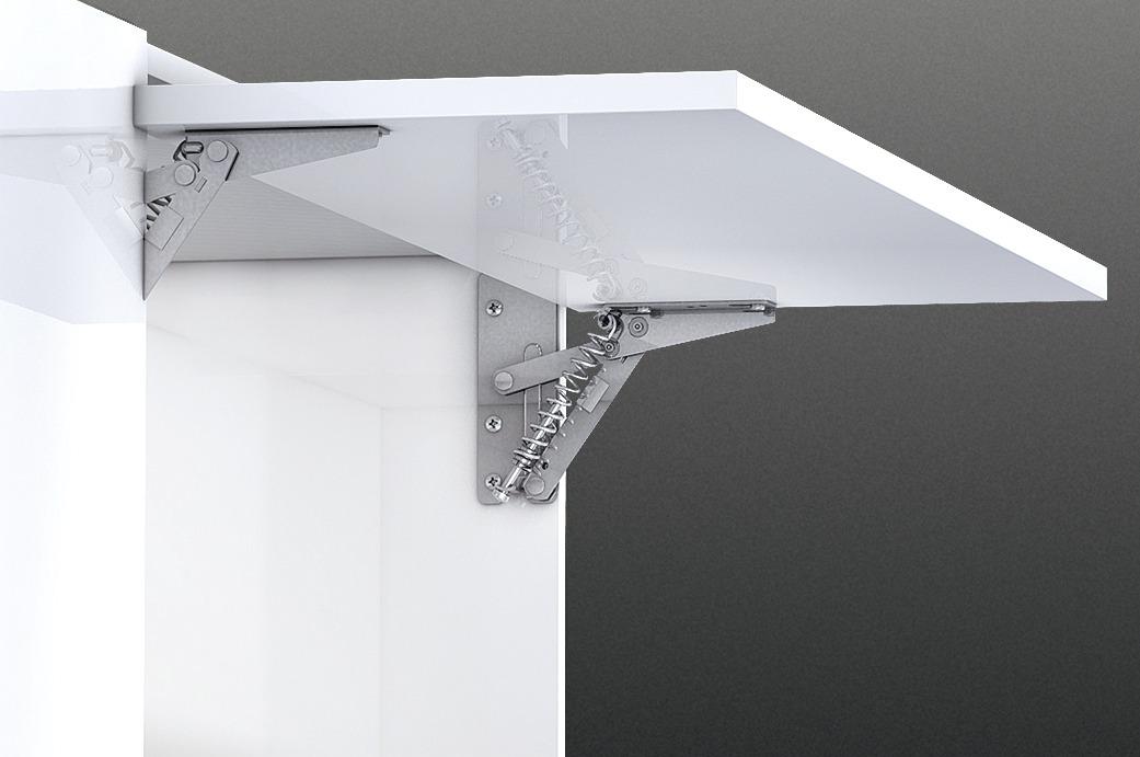 hochklappbeschlag f r klappen aus holz oder mit breitem aluminiumrahmen online bei h fele. Black Bedroom Furniture Sets. Home Design Ideas