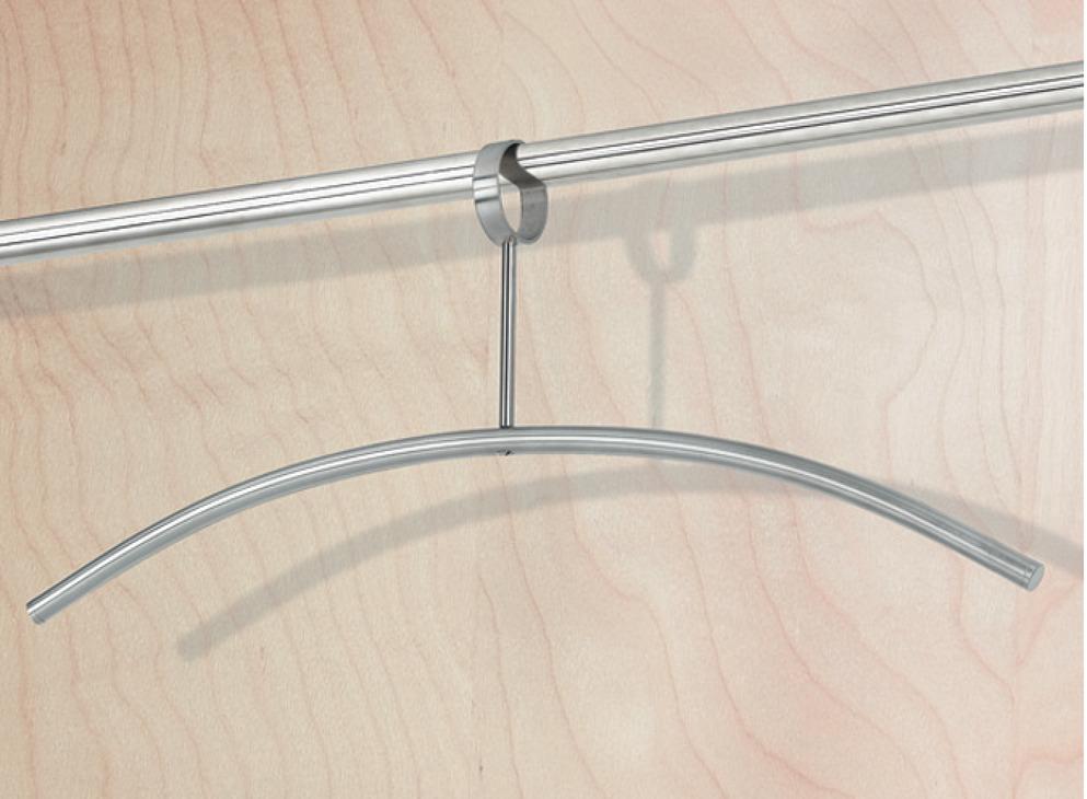 kleiderb gel aus edelstahl geschlossene se haken drehbar online bei h fele. Black Bedroom Furniture Sets. Home Design Ideas