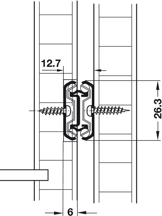 kugelf hrung vollauszug accuride 2642 tragkraft bis 45 kg stahl seitliche montage im. Black Bedroom Furniture Sets. Home Design Ideas