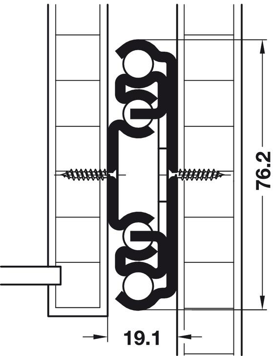 kugelf hrung vollauszug accuride 9308 tragkraft bis 227 kg stahl seitliche aufliegende. Black Bedroom Furniture Sets. Home Design Ideas