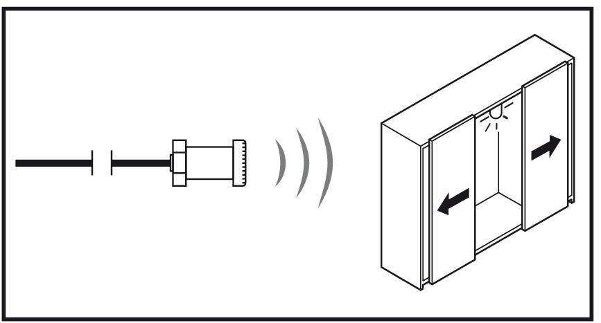 led t r sensorschalter loox t r auf licht an t r zu licht aus online bei h fele. Black Bedroom Furniture Sets. Home Design Ideas