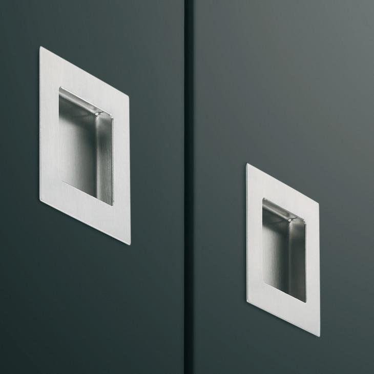 muschelgriff aus edelstahl schraubenlose befestigung. Black Bedroom Furniture Sets. Home Design Ideas