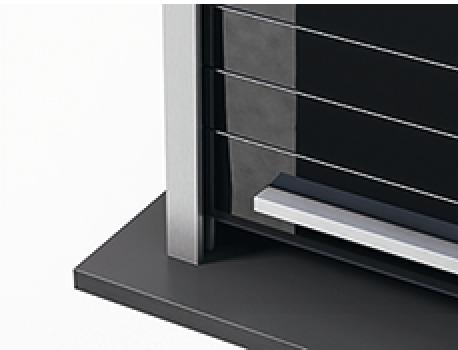 rollladenmodul kassette lamellen aus esg glas blende aus aluminium im h fele deutschland shop. Black Bedroom Furniture Sets. Home Design Ideas