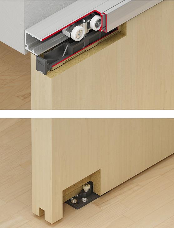 schiebet rbeschlag eku porta 60 100 hm hmd garnitur online bei h fele. Black Bedroom Furniture Sets. Home Design Ideas