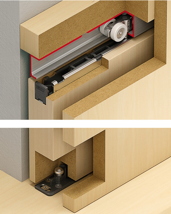 schiebet rbeschlag eku porta 60 100 hmt garnitur online bei h fele. Black Bedroom Furniture Sets. Home Design Ideas