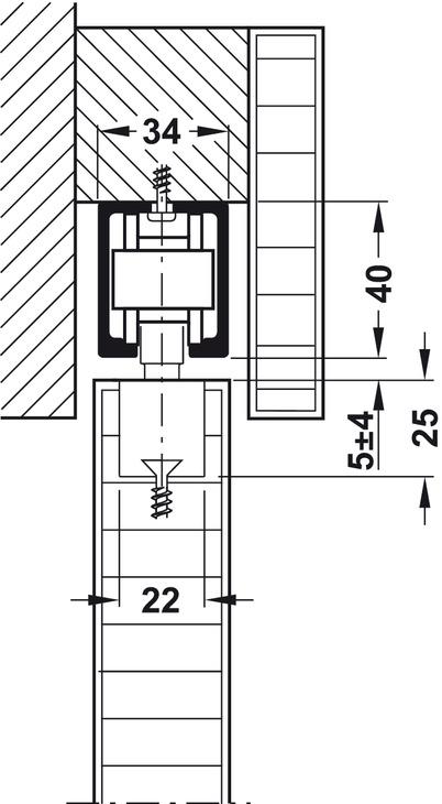 schiebet rbeschlag hawa junior 80 b mod garnitur online bei h fele. Black Bedroom Furniture Sets. Home Design Ideas