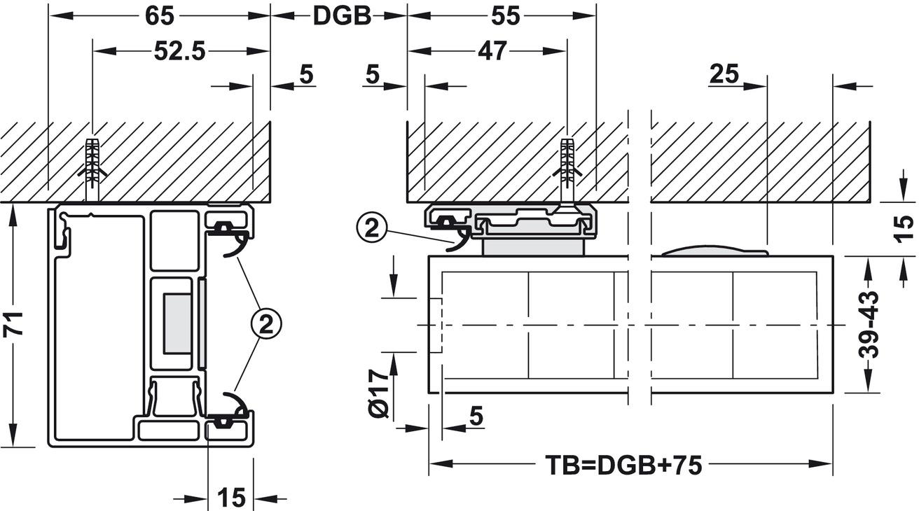 schiebet rbeschlag slido classic 80 s im h fele deutschland shop. Black Bedroom Furniture Sets. Home Design Ideas