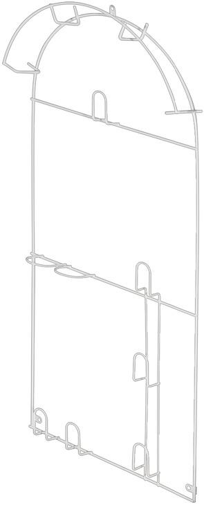 schlauchhalter zum schrauben geeignet f r. Black Bedroom Furniture Sets. Home Design Ideas