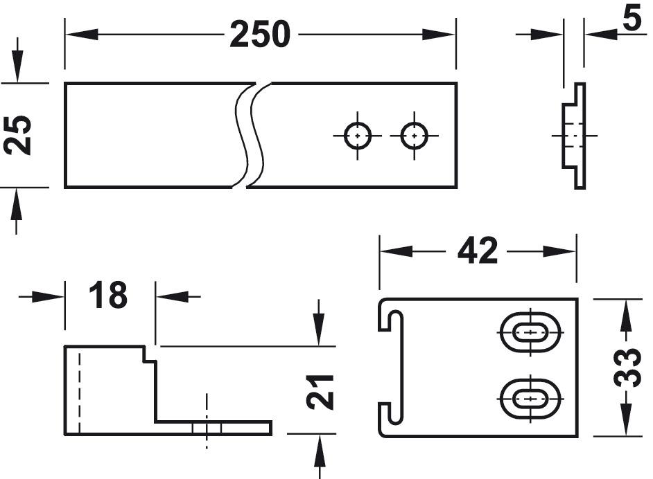 Schleppscharnier, für Einbaukühlschränke hinter Möbeltüren - im ... | {Einbaukühlschränke 87}
